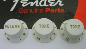 Fender Strat Knob Set White  099-2035-000    0092035000